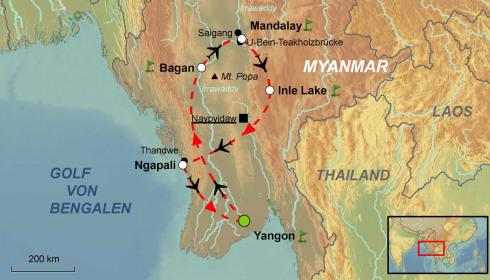 Golf Rundreise Myanmar