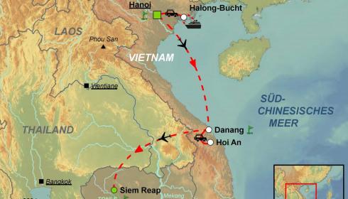 Golf Rundreise Vietnam-Kambodscha