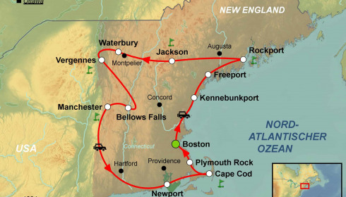 Golf Rundreise USA New England