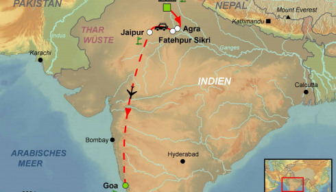 Golf Rundreise Indien Dehli Agra Jaipur Goa