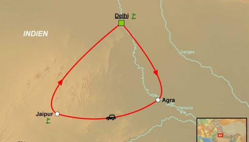 Golf Rundreise Indien Dehli Agra Jaipur