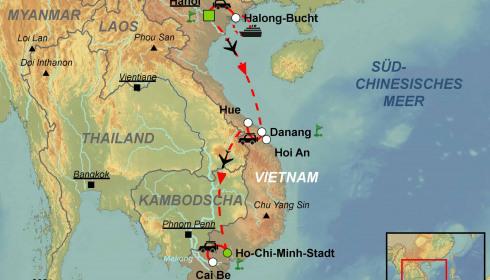 Golf Rundreise Nord-Süd Vietnam
