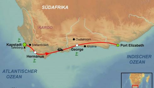 Golf Rundreise Südafrika Cape & Garden Route Golf & Safari