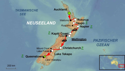 Golf Rundreise Neuseeland