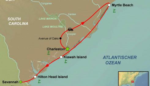 Golf Rundreise USA South Carolina (Hilton Head Island-Kiawa Island)