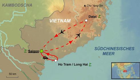 Golf Rundreise Süd Vietnam