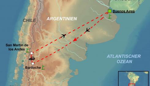 Golf Rundreise Argentinien Buenos Aires und Patagonien