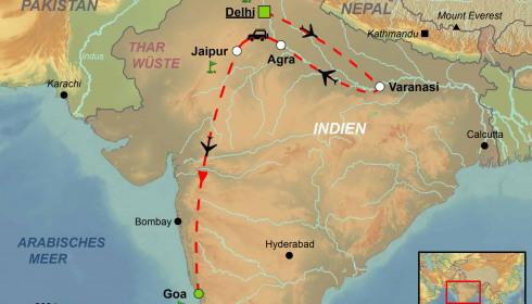 Golf Rundreise Indien Delhi Varanasi Agra Jaipur Goa