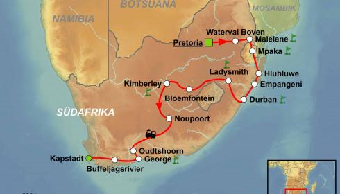Golf Rundreise Südafrika mit dem Shongololo Express