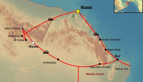 Golf Rundreise Oman